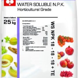Комплексное водорастворимое удобрение Eurosolids NPK 18-18-18 + 3MgO + TE